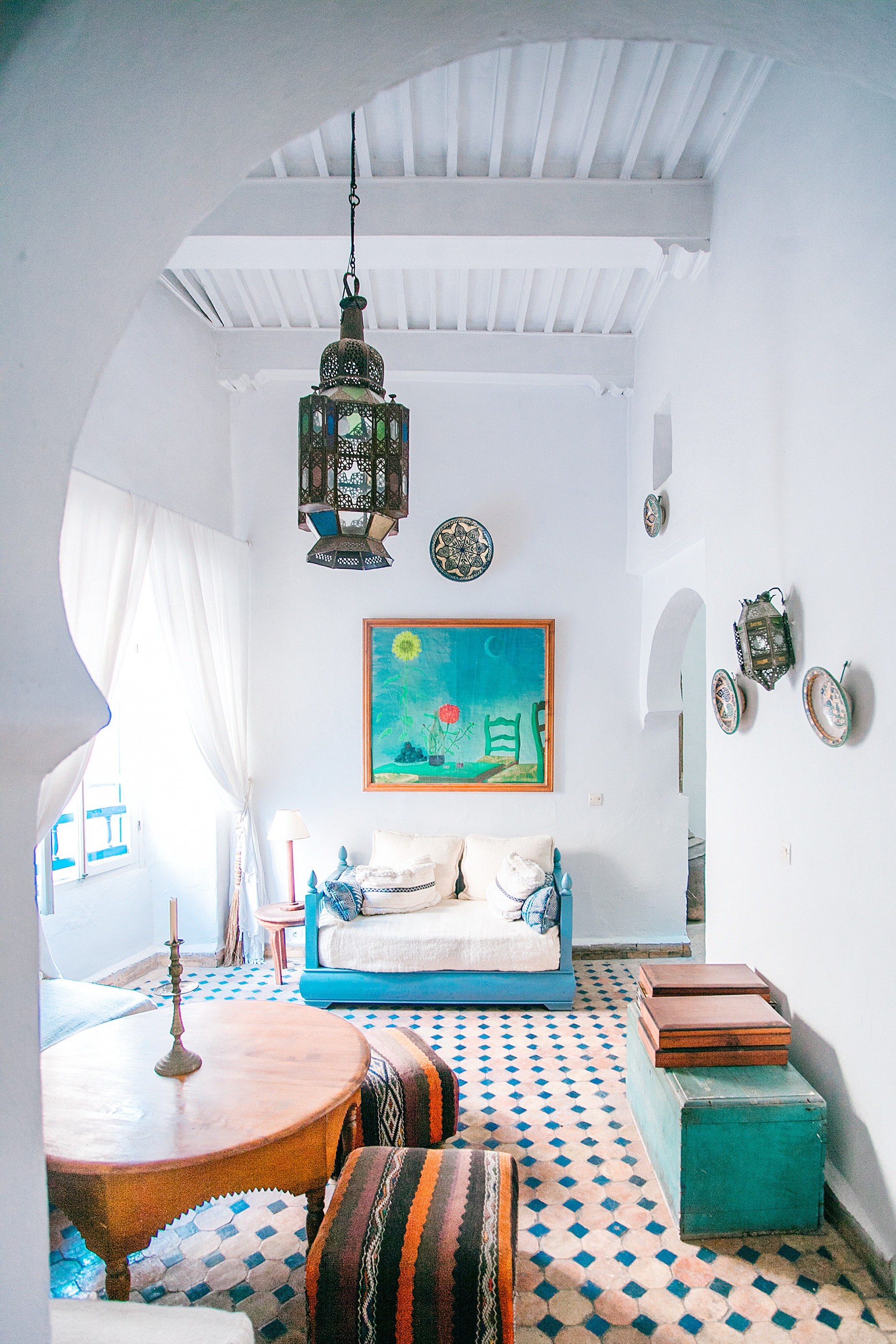 Summer homes, colourful decoration