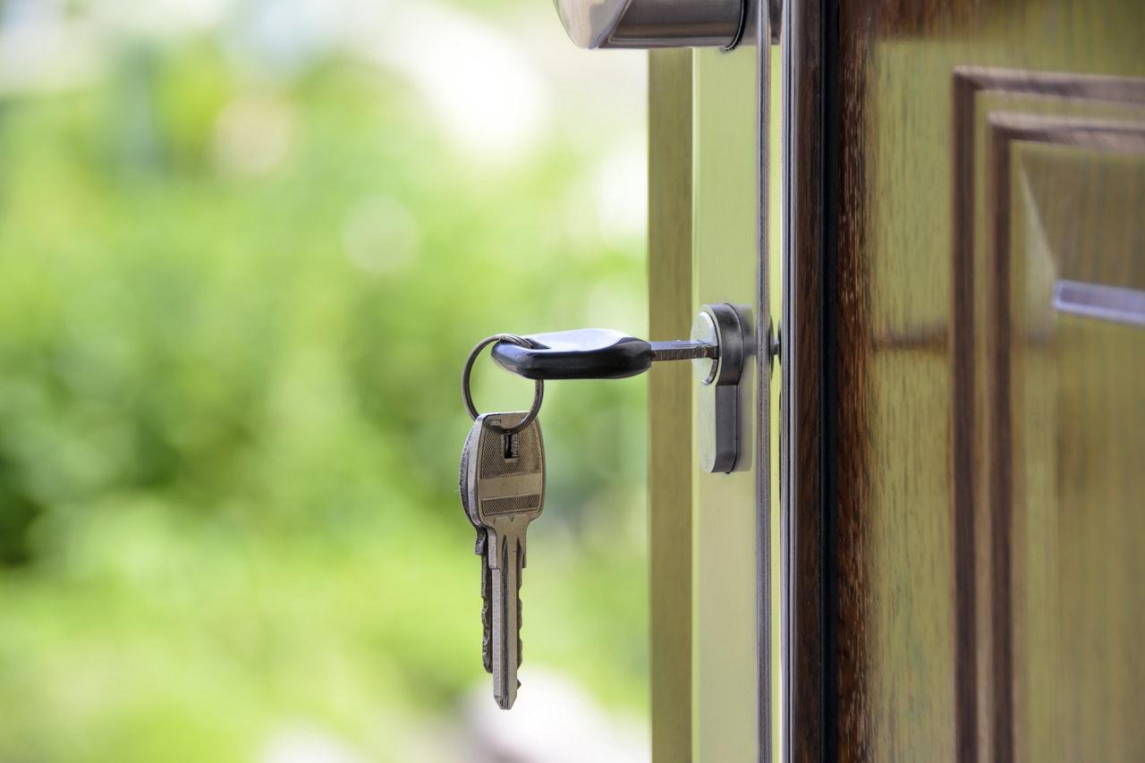 Lock door for security